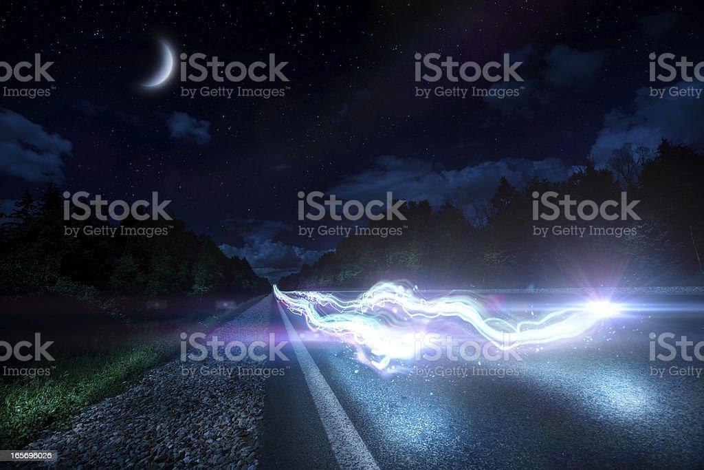 Night ride royalty-free stock photo