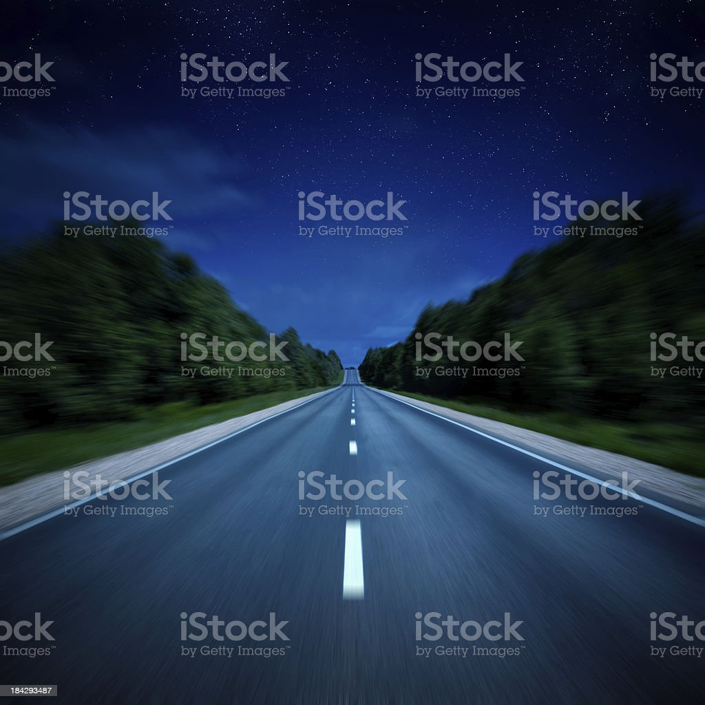 Night ride royalty-free stock photo