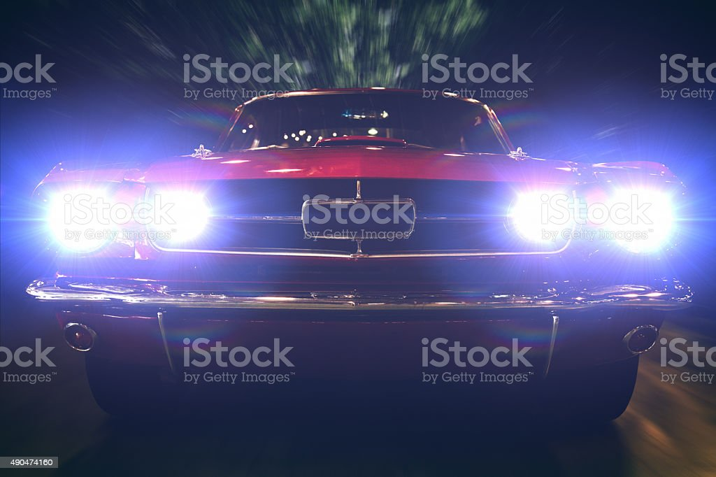 Night ride stock photo