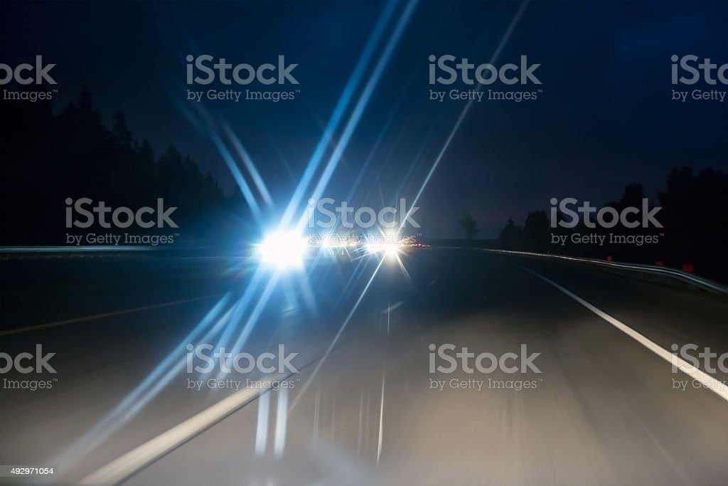 night road stock photo