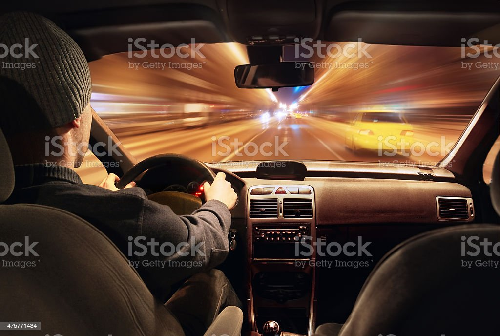 night rush stock photo