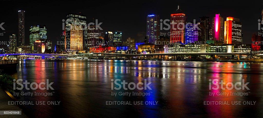 G20 Night Scene, Brisbane stock photo