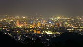 Night scene of Kofu city, Yamanashi, Japan