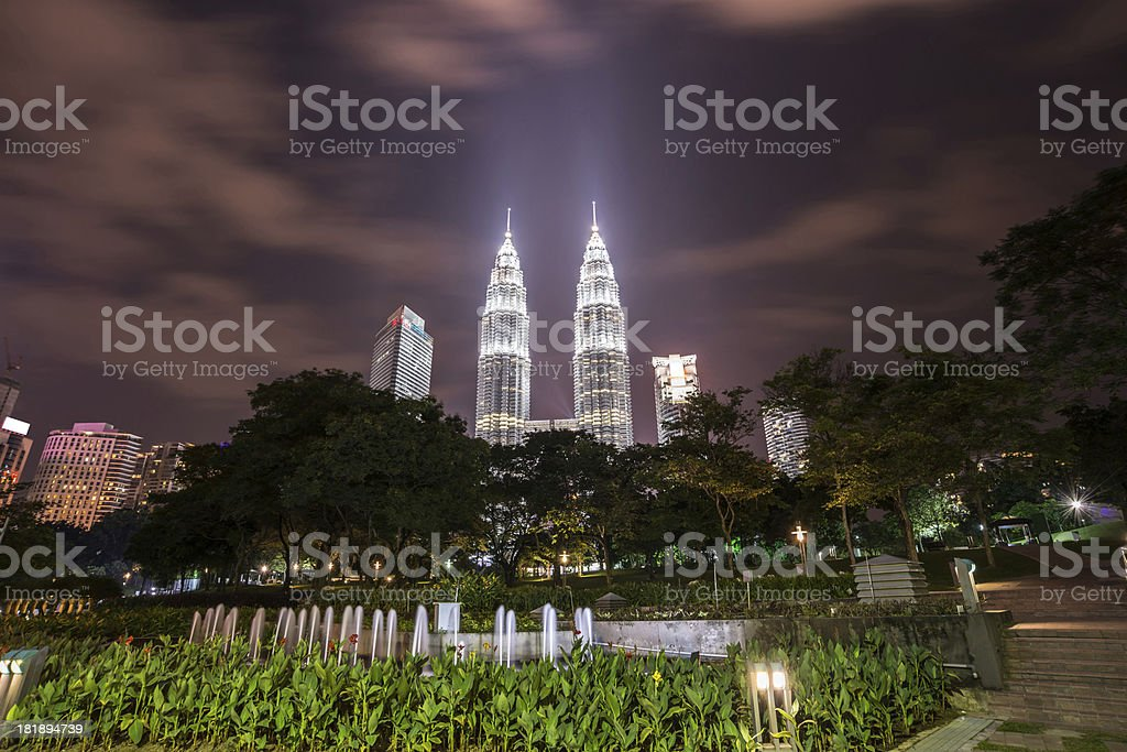 night scene of kuala lumper royalty-free stock photo