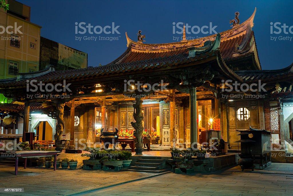 Night Scene of Longshan Temple stock photo