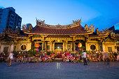 Night Scene of Longshan Temple