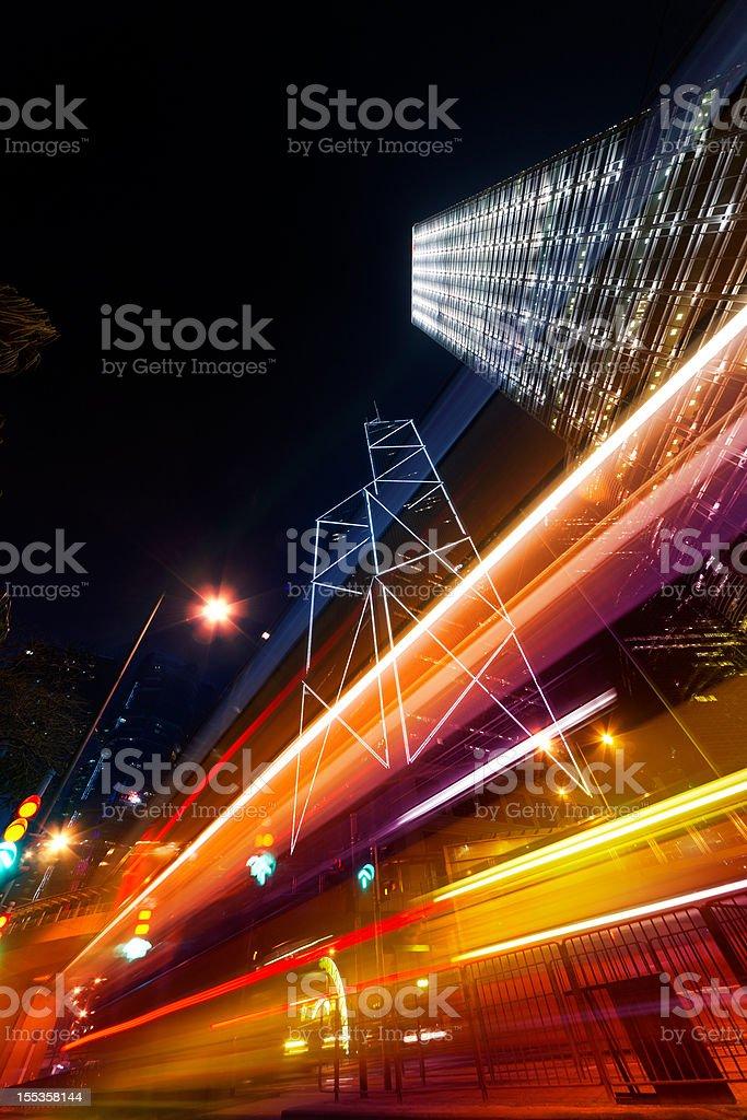 Night scene of modern city royalty-free stock photo