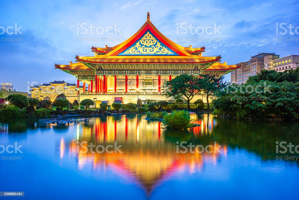 night scene of Taipei stock photo