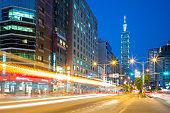 night scene of Taipei