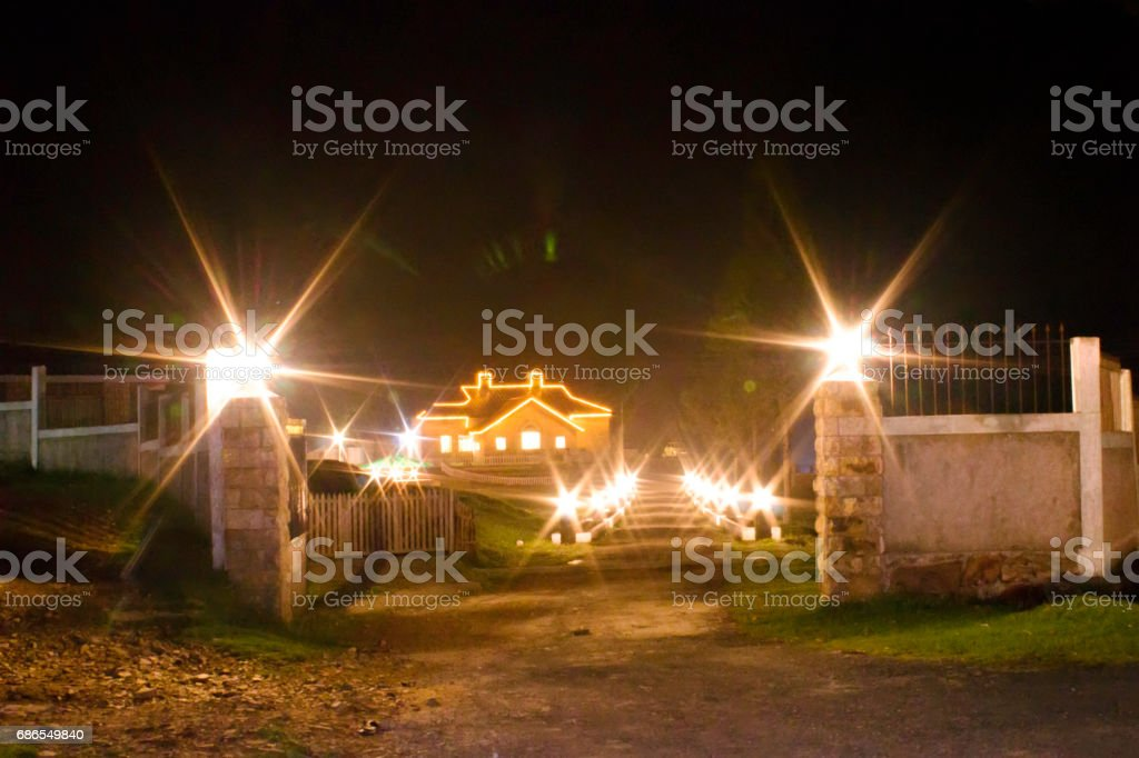 night scene,East Khasi Hills stock photo