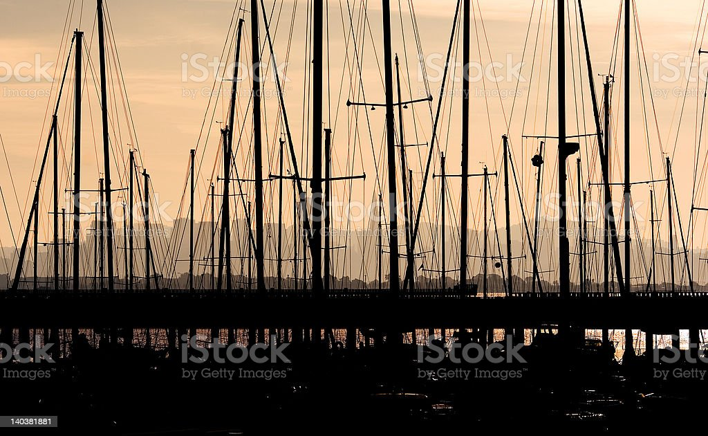 Night Ships stock photo