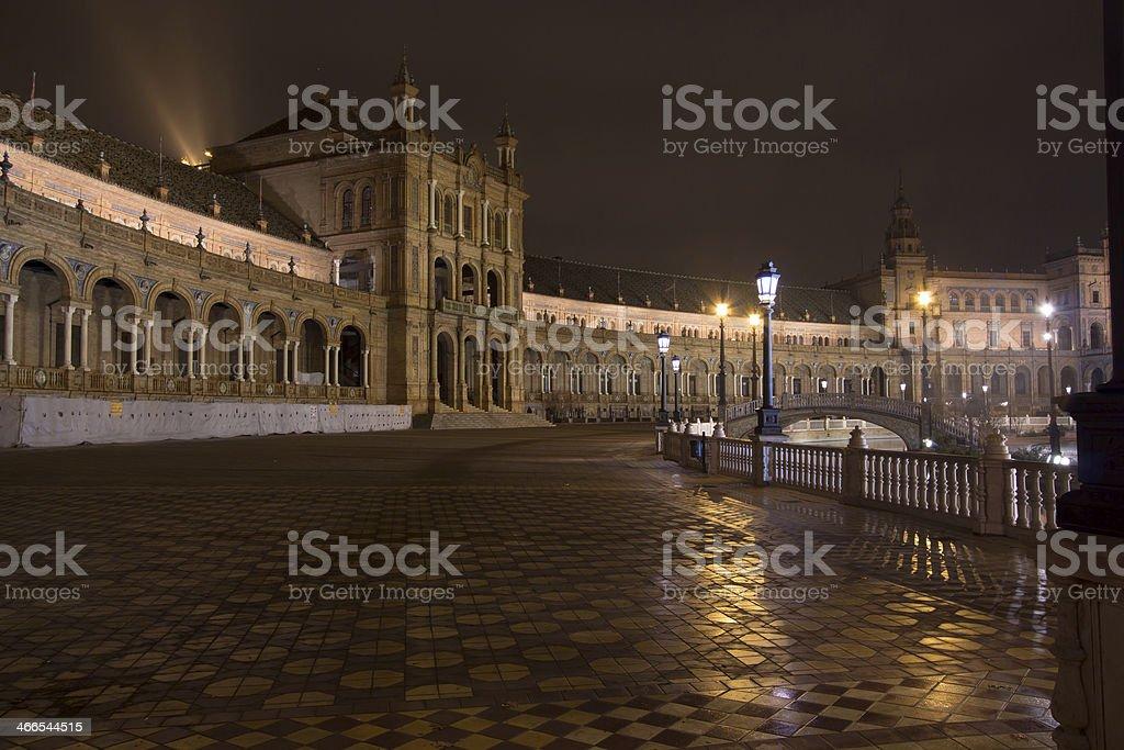 Night shoot Plaza de Espana royalty-free stock photo