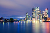 Night shot of Brisbane city