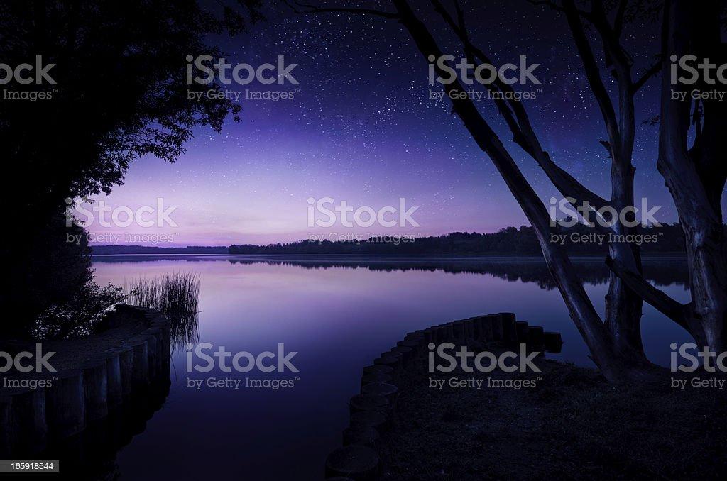 Night shot of lake royalty-free stock photo