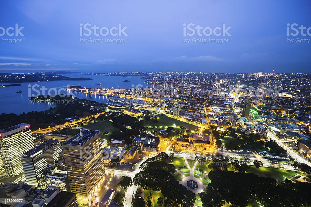 Night shot of Sydney, Australia royalty-free stock photo