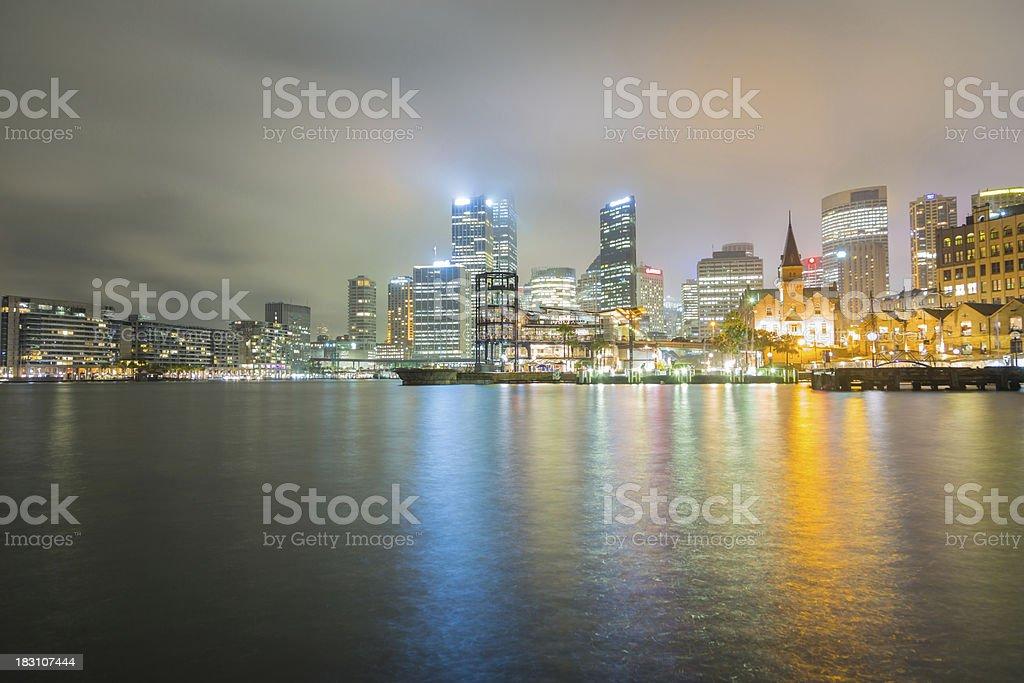 Night shot of Sydney, Australia royalty-free stock photo