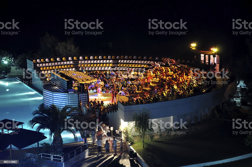 Night show at hotel royalty-free stock photo