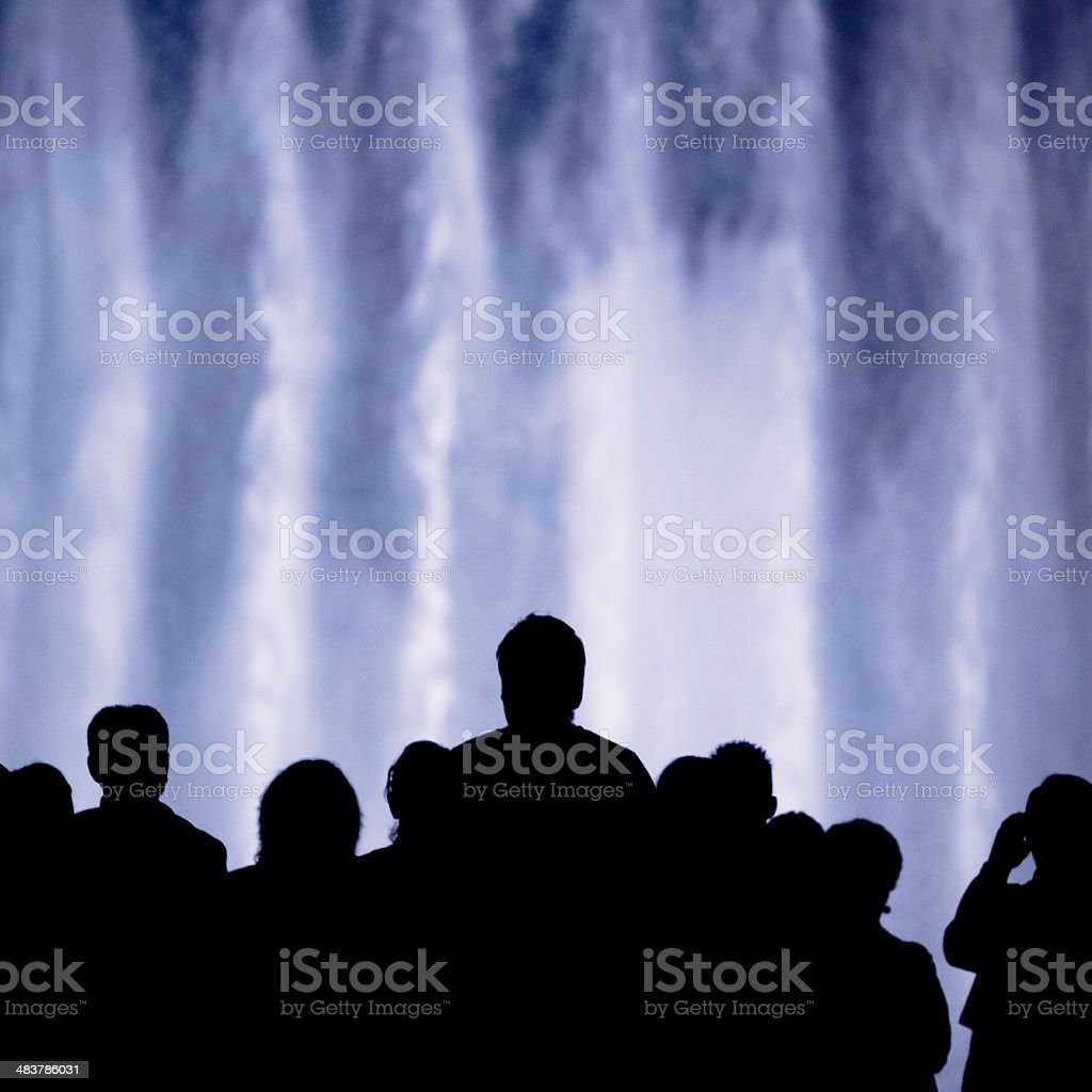 night silhouettes royalty-free stock photo