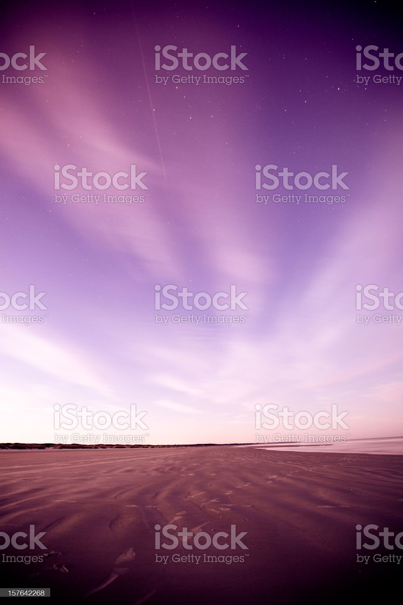 Night sky and beach royalty-free stock photo