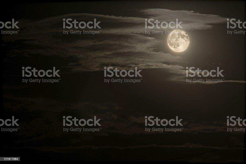 night sky and full moon royalty-free stock photo