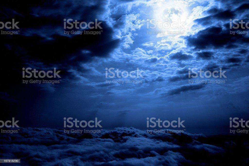 night sky and moon royalty-free stock photo