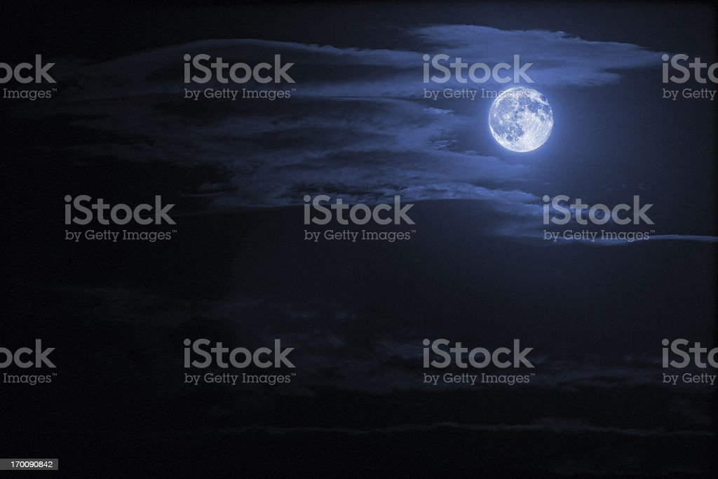 night sky and moon stock photo