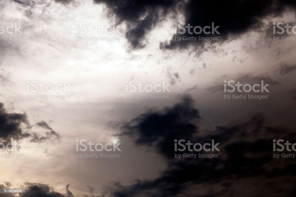 night sky , clouds stock photo