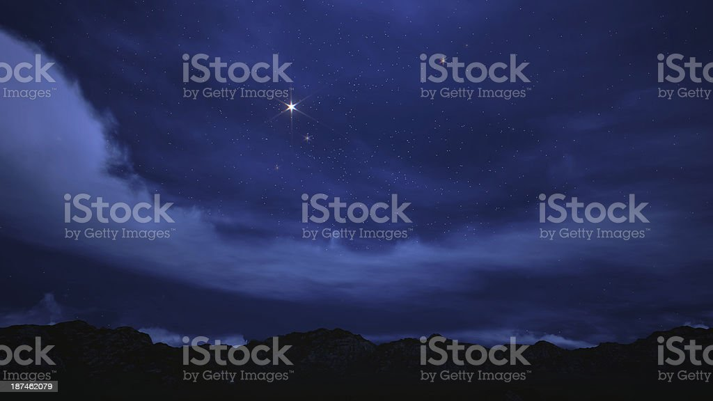 Night sky filled with stars. stock photo
