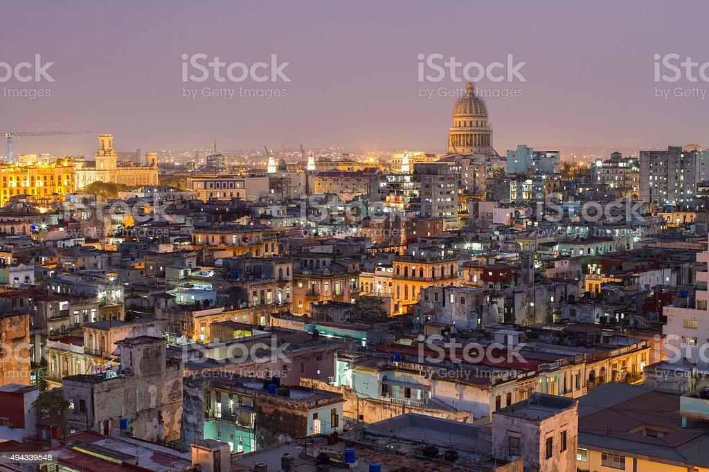 Night sky, Havana stock photo