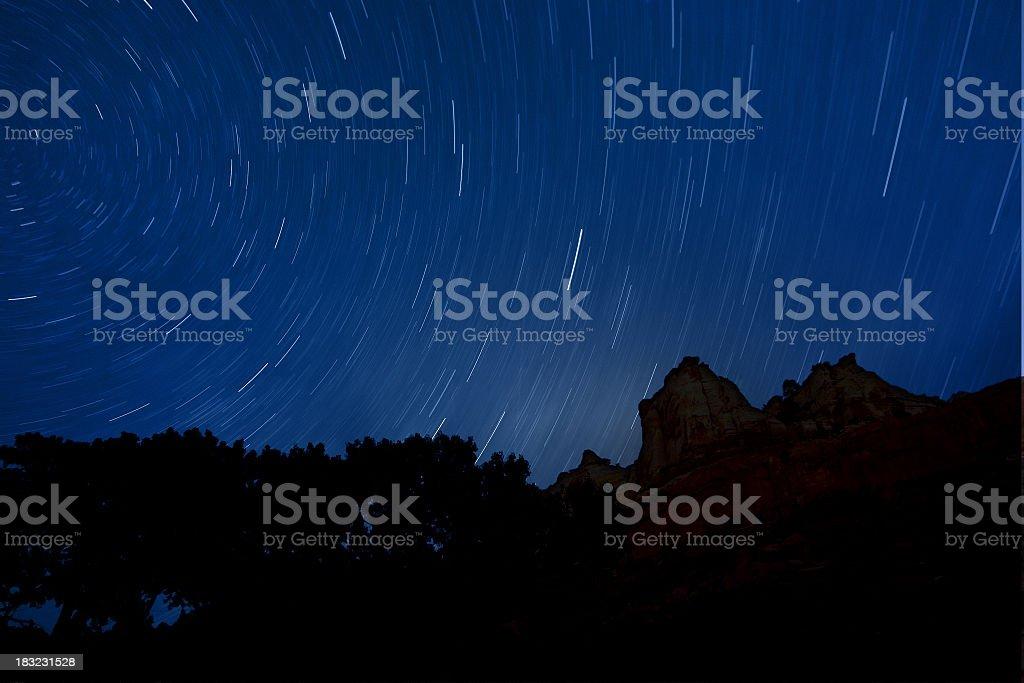 Night Sky Long Exposure stock photo