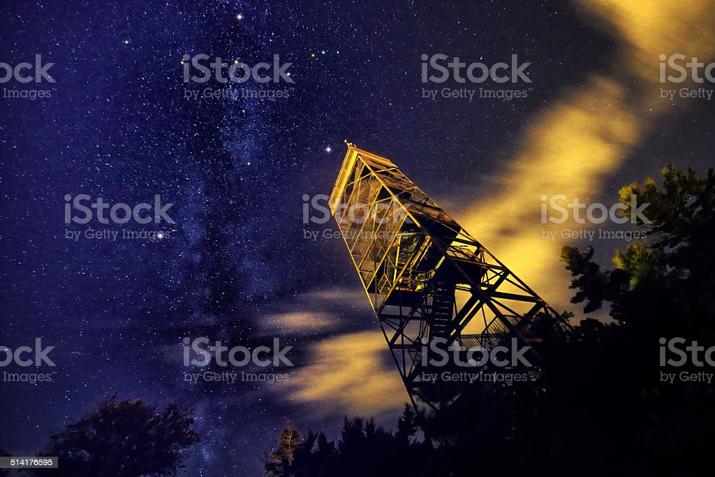 Night Sky Northern Cross stock photo