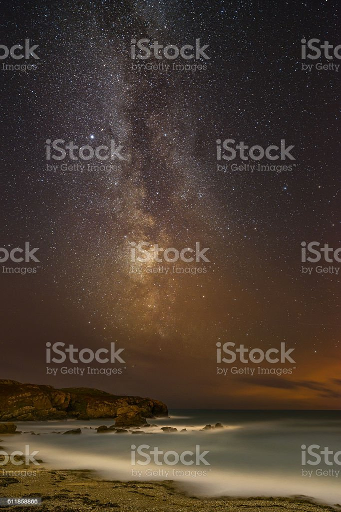 Night Sky over North Wales. stock photo