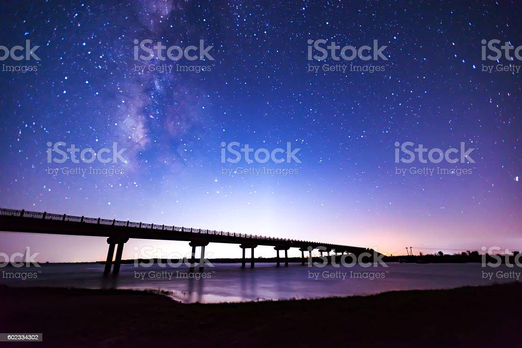 Night sky stock photo