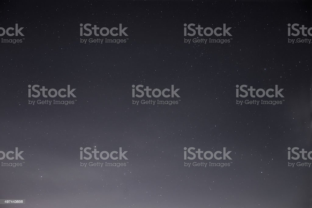 Night Sky Shot In The Late Summer stock photo