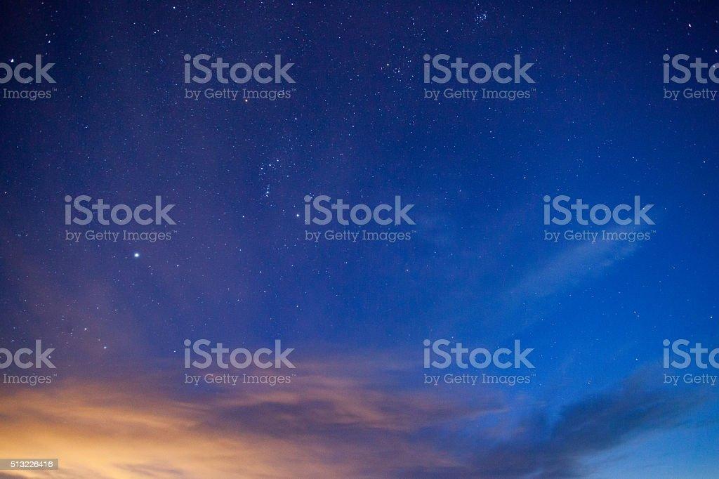 night sky simple abstract stock photo