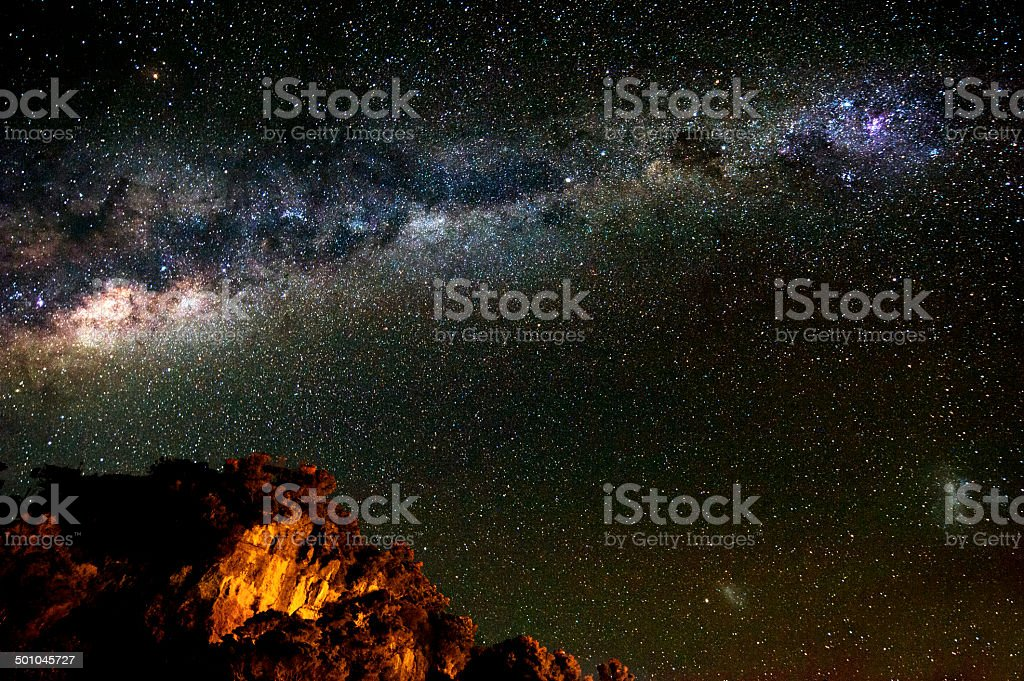 Night Sky Southern Hemisphere stock photo