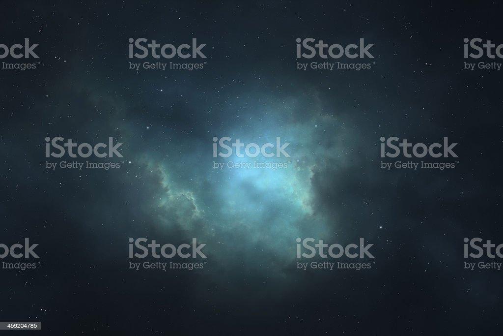 Night sky - Universe filled with stars, nebula and galaxy stock photo