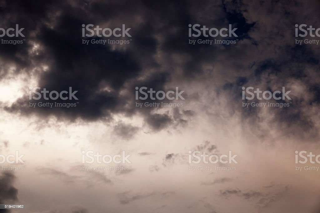 night sky ,  with clouds stock photo