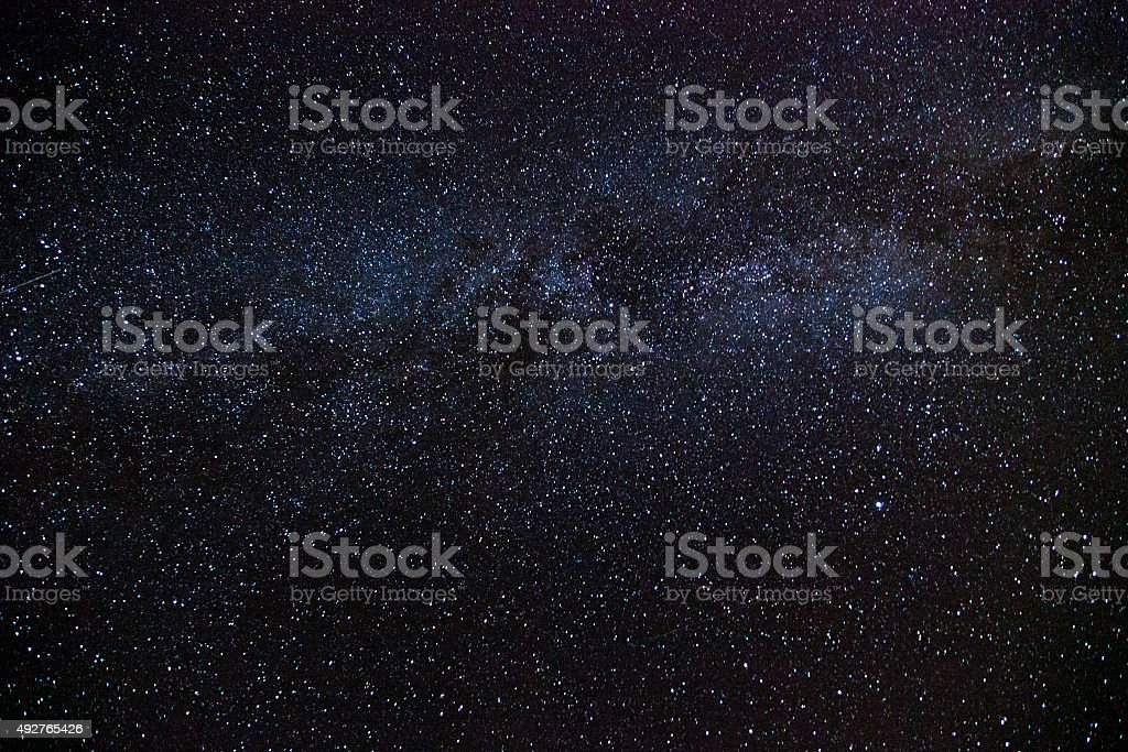 Night sky with Milky way stock photo