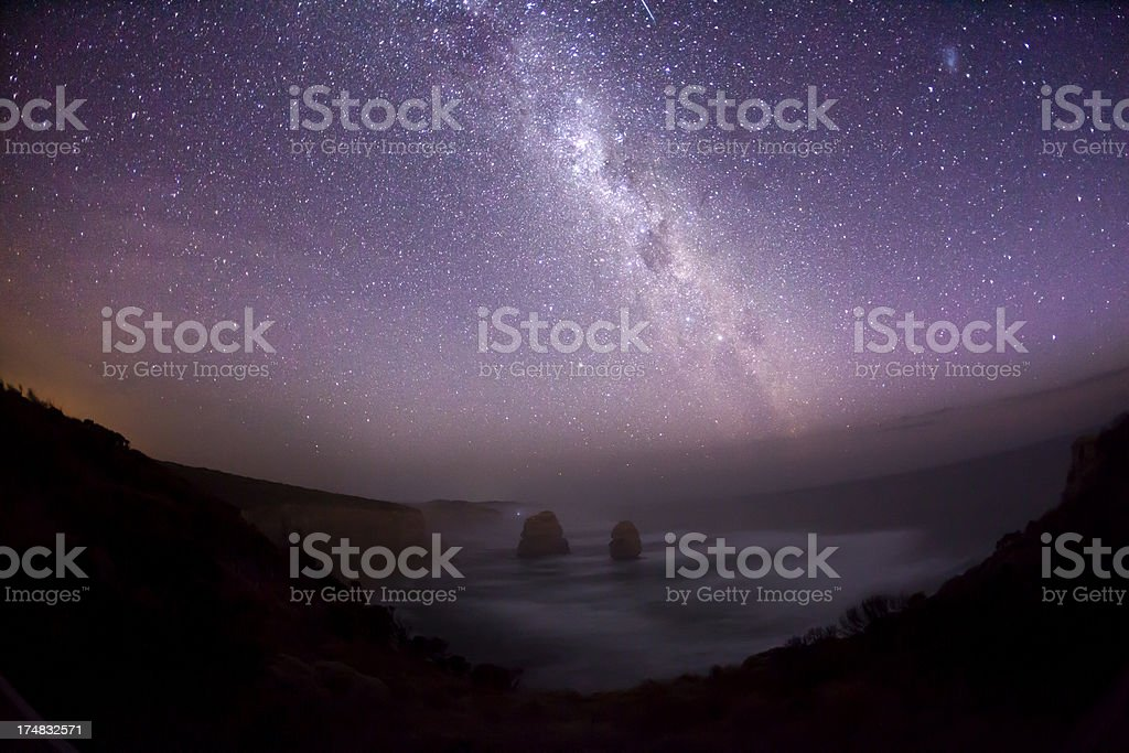 Night sky with milky way, southern hemisphere royalty-free stock photo