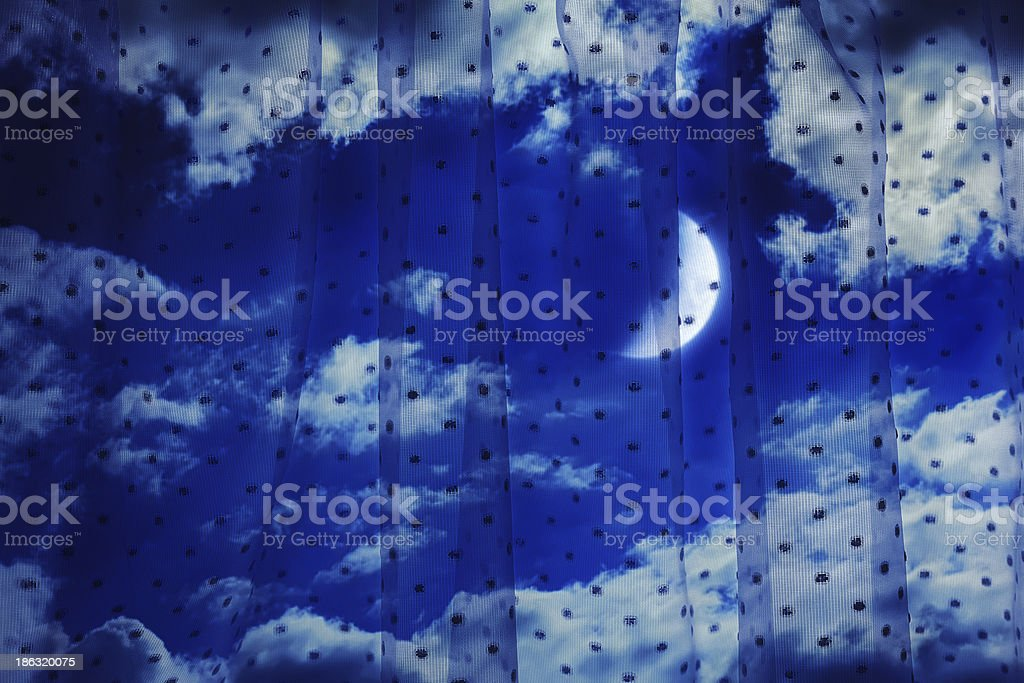 Night sky with the moon royalty-free stock photo