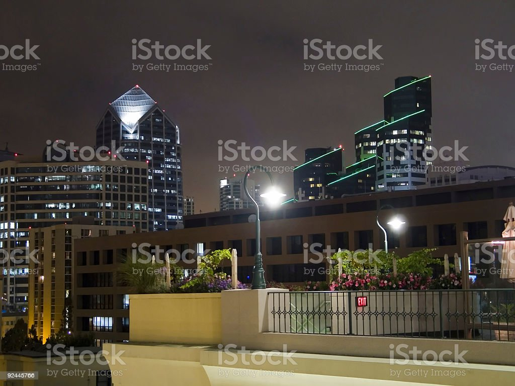 Night Skyline royalty-free stock photo