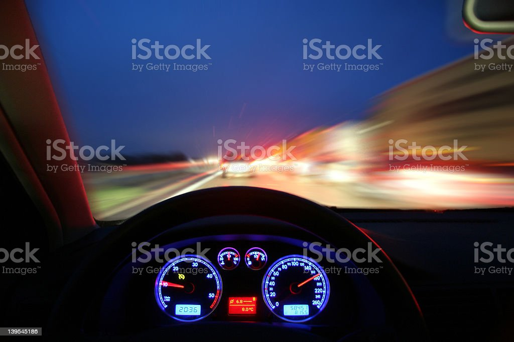 Night Speeding stock photo