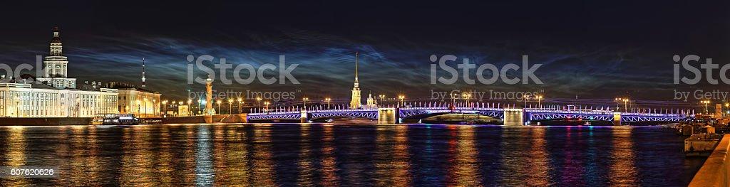 Night St. Petersburg stock photo