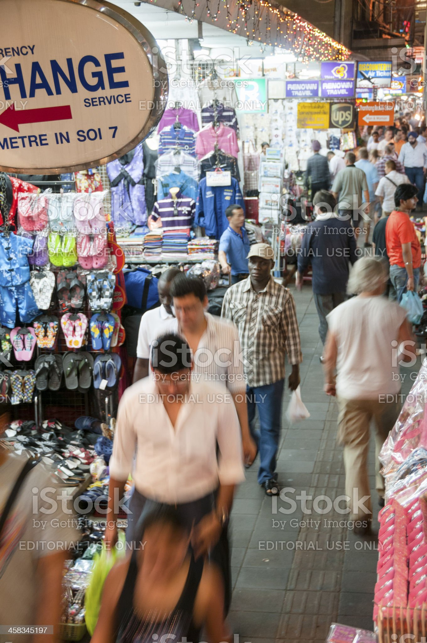Night Street Market On Sukhumvit Road In Bangkok, Thailand royalty-free stock photo