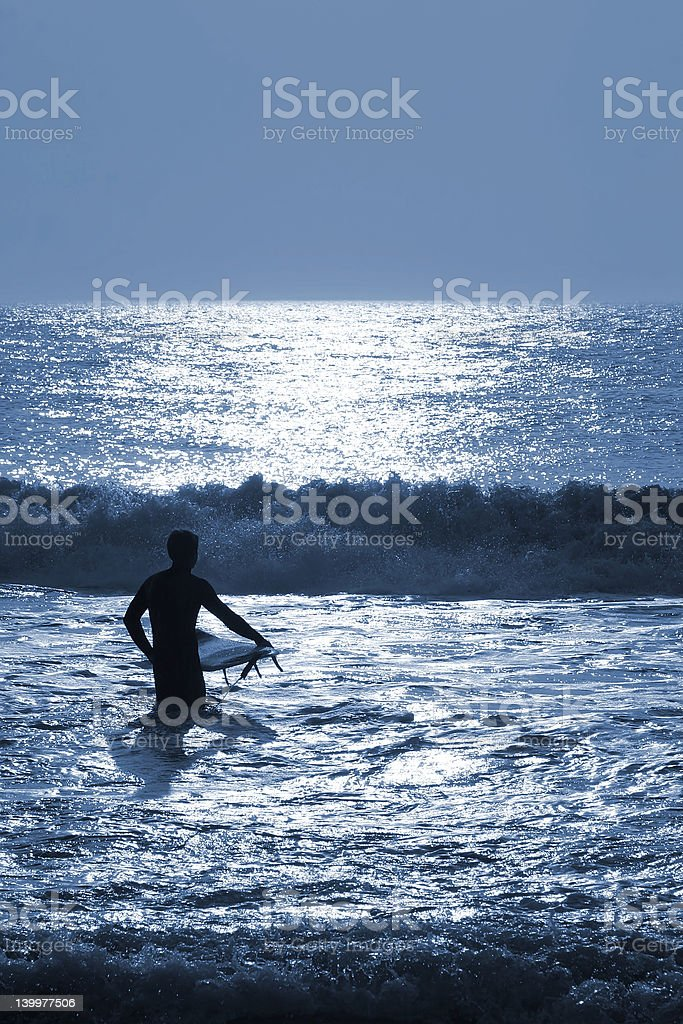 Night Surfing royalty-free stock photo