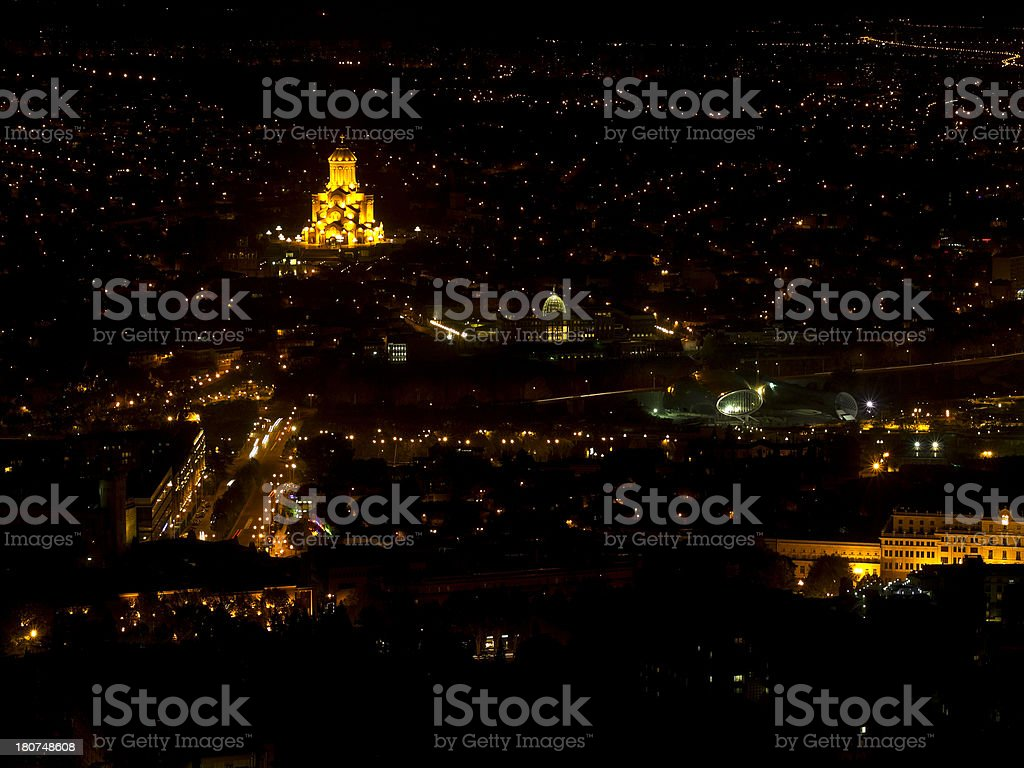 Night Tbilisi royalty-free stock photo