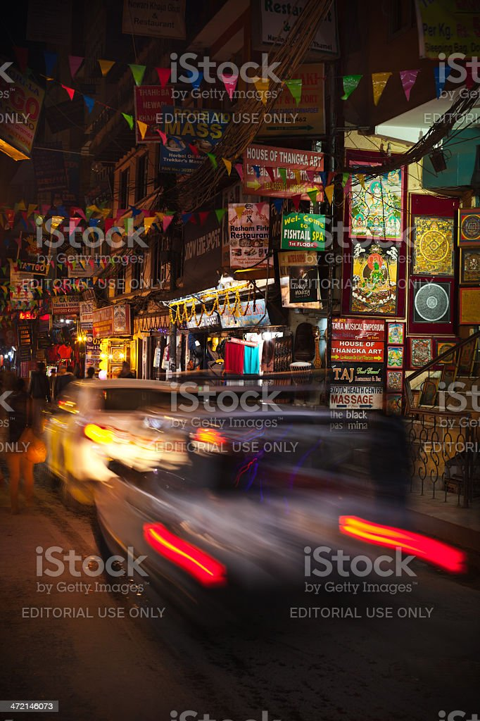 Night Thamel stock photo