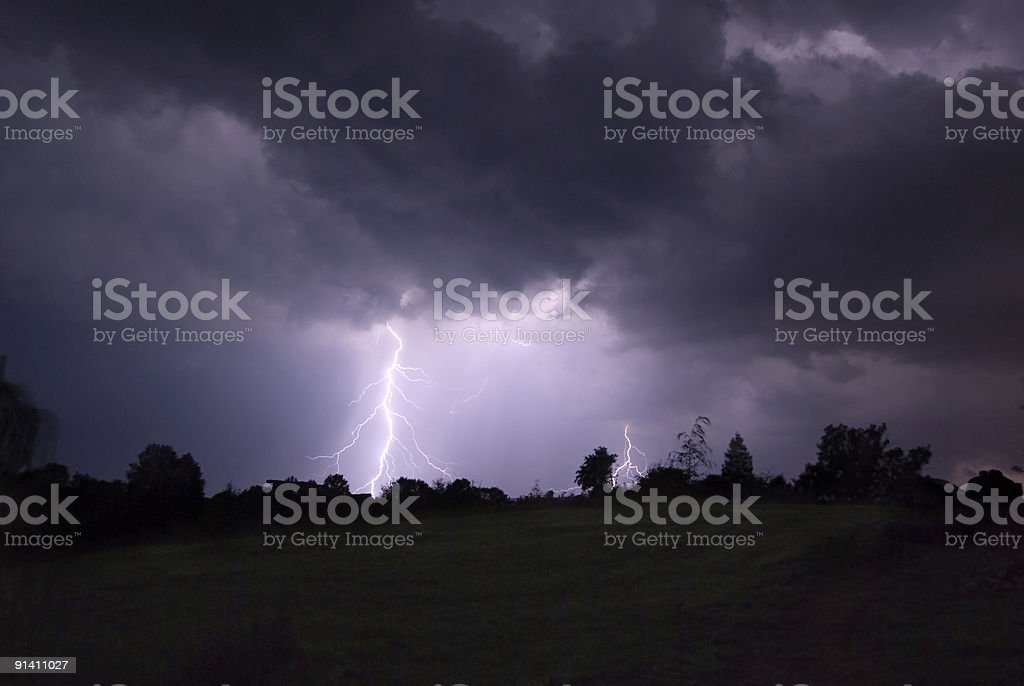 Night thunderstorm. royalty-free stock photo