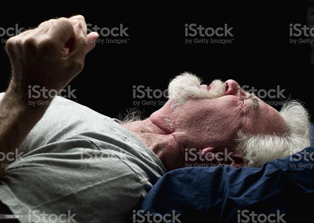 Night time agony stock photo